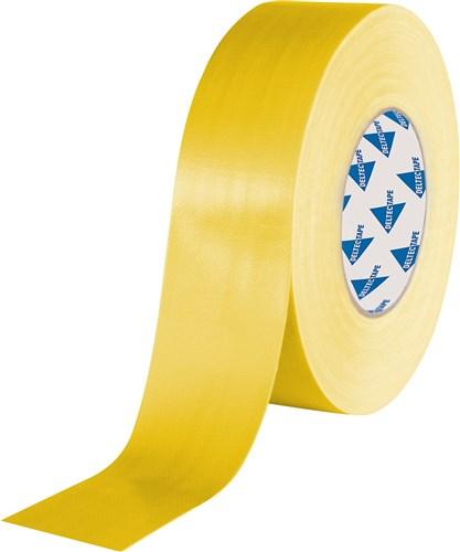 Deltec gaffa tape pro geel 50mm x 50m