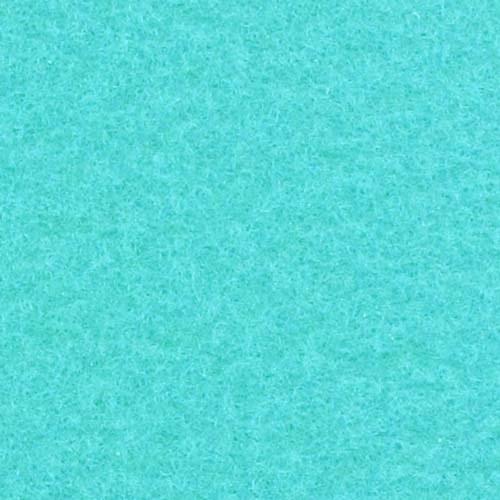 Rol tapijt met folie turquoise 50m x 2m
