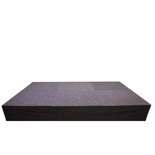 Podiumrok 3 m x 1 m zwart strak