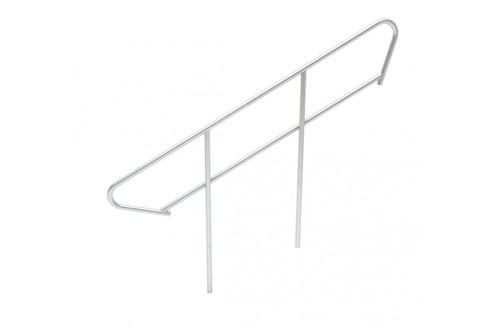 Railing voor vaste trap lengte 4 tot 5 treden