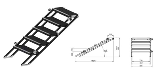 Stairs stage height 80-140cm adjustable